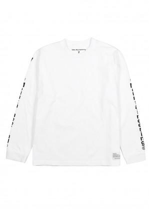 White Mountaineering White printed cotton top