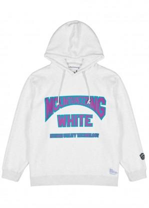 White Mountaineering Grey logo-print cotton sweatshirt