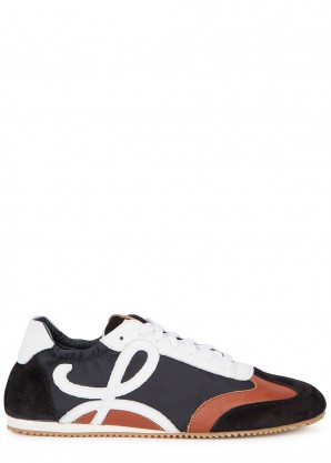 Loewe Panelled nylon and leather sneakers