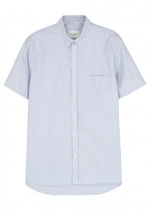 Les Deux Blue striped cotton shirt
