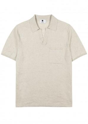 NN07 Off-white cotton-blend polo shirt