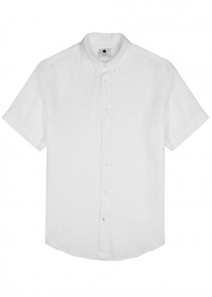 NN07 White linen shirt