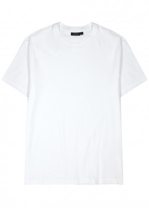 Silo white cotton-jersey T-shirt