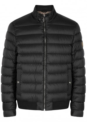 Belstaff Circuit black quilted shell jacket