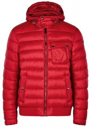 Belstaff Red quilted shell jacket