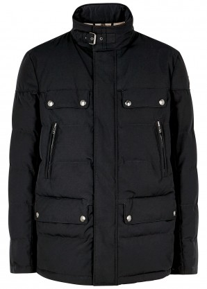 Belstaff Mountain black quilted shell jacket