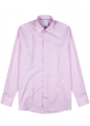Eton Pink contemporary cotton shirt