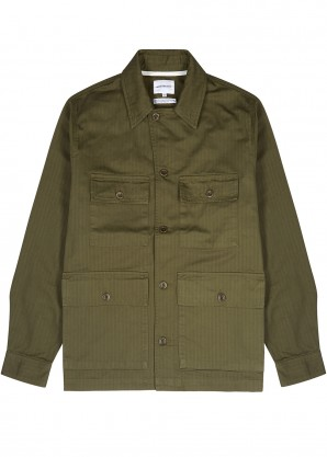 Norse Projects Mads olive cotton jacket