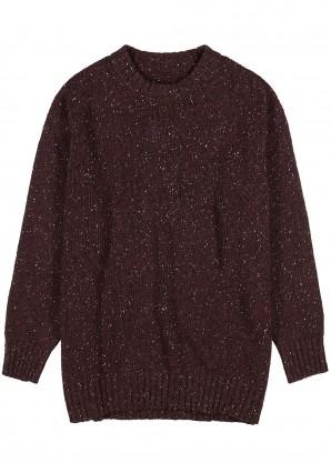 Burgundy wool-blend jumper