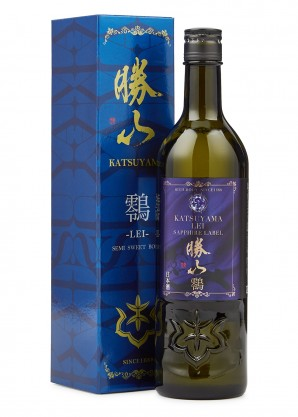 Katsuyama Sake Lei Sapphire Label Semi-Sweet Junmai Ginjo Sake 720ml