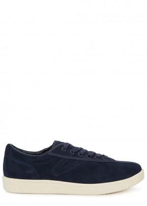 TRETORN Nylite navy suede sneakers