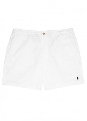 White stretch-cotton shorts