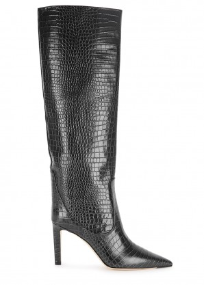 Jimmy Choo Mavis 85 crocodile-effect leather knee-high boots