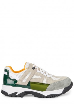 Maison Margiela Security suede and mesh sneakers