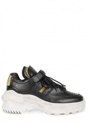 Maison Margiela Retrofit chunky black leather sneakers