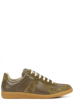 Maison Margiela Replica brown leather sneakers