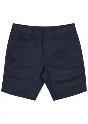PS by Paul Smith Navy cotton and linen-blend shorts