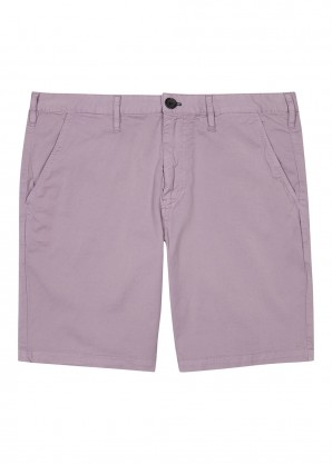 PS by Paul Smith Lilac stretch-cotton shorts