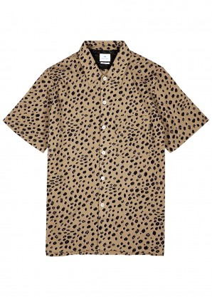 Camel cotton shirt