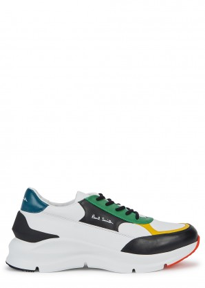 Paul Smith Explorer panelled leather sneakers