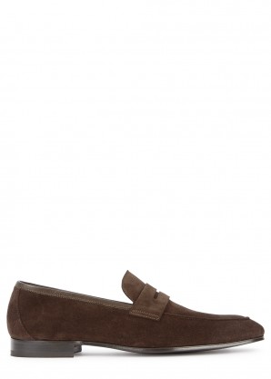 Paul Smith Glynn chocolate brown suede loafers