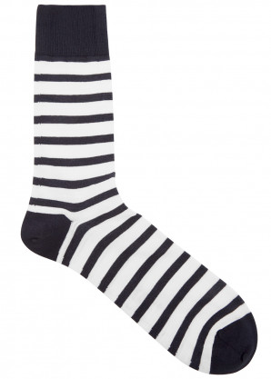 Falke Monochrome striped cotton-blend socks
