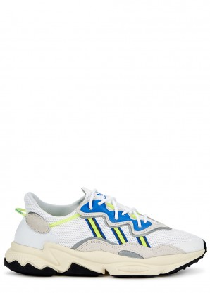 adidas Originals Ozweego white panelled sneakers