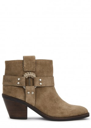 See by Chloé 80 taupe suede ankle boots