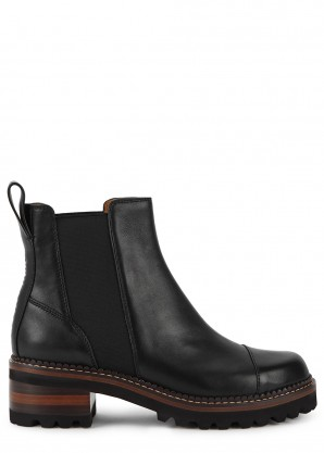 See by Chloé Black leather Chelsea boots