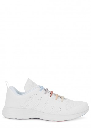 Athletic Propulsion Labs X Hickies Techloom Pro white knitted sneakers