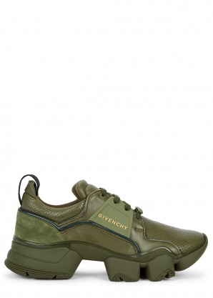 Givenchy Jaw olive leather sneakers