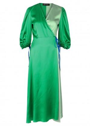 Anna October Green stretch-silk wrap dress
