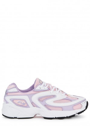Fila Creator pink mesh and leather sneakers
