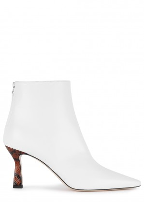 Wandler Lina 80 white leather boots