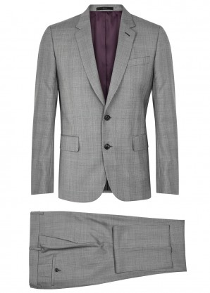 Paul Smith Soho grey check slim-fit wool suit