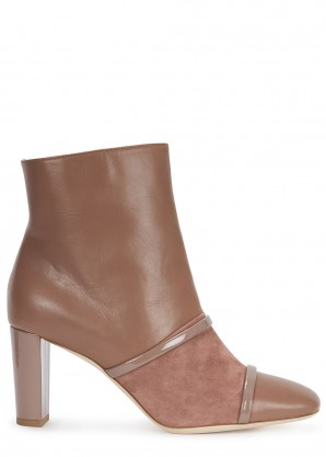 Malone Souliers Dakota 70 taupe leather ankle boots