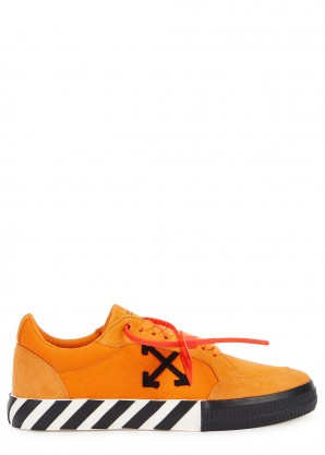 Off-White Vulcanised orange suede sneakers
