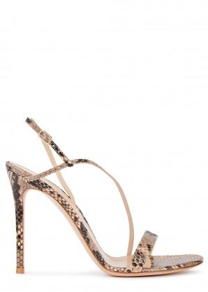Gianvito Rossi Exotic Manhattan 105 python sandals