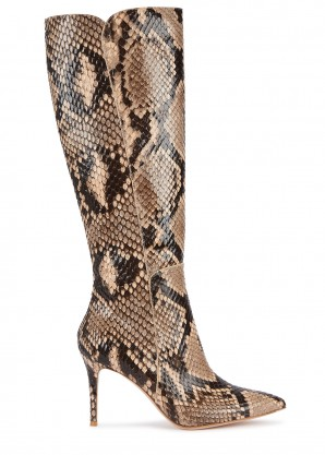 Gianvito Rossi Exotic Corinne 85 python knee boots
