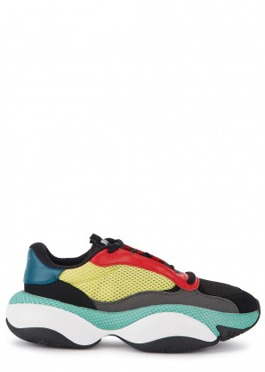 Puma Alteration Kurve black and yellow mesh sneakers