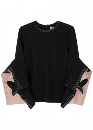 Roksanda Rana black ruffled top