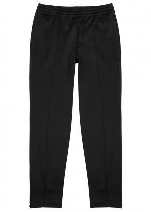 Black stretch-jersey sweatpants