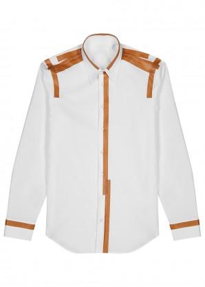Taping white cotton shirt