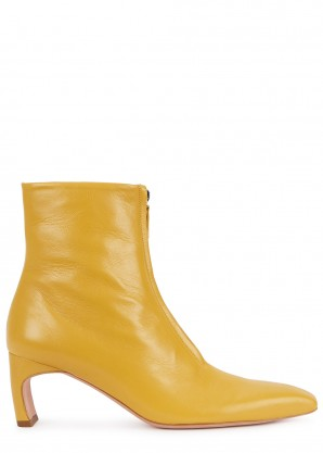 Rosetta Getty 80 yellow leather ankle boots
