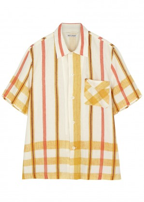 Our Legacy Printed cotton and linen-blend shirt