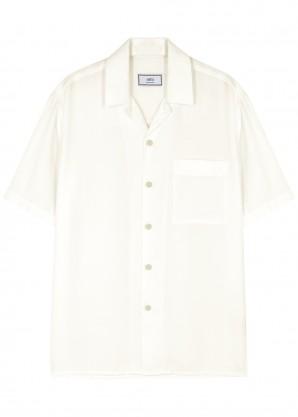 AMI Ecru twill shirt