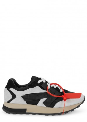 Off-White Vintage Arrow panelled suede sneakers