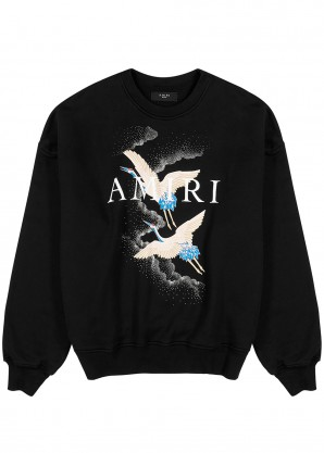 Amiri Crane printed cotton sweatshirt