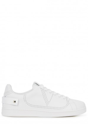 Valentino Garavani White perforated leather sneakers