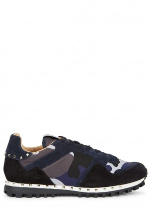 Valentino Valentino Garavani Rockrunner camouflage-print sneakers